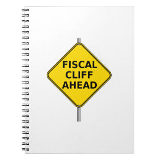 Fiscal Cliff Ahead Sign Notebook