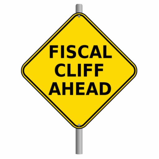 Fiscal Cliff Ahead Sign Cut Outs
