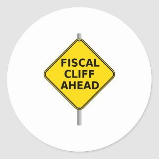 Fiscal Cliff Ahead Sign Sticker
