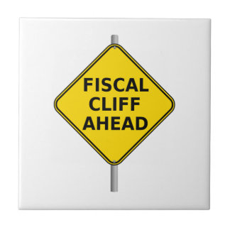 Fiscal Cliff Ahead Sign Tiles