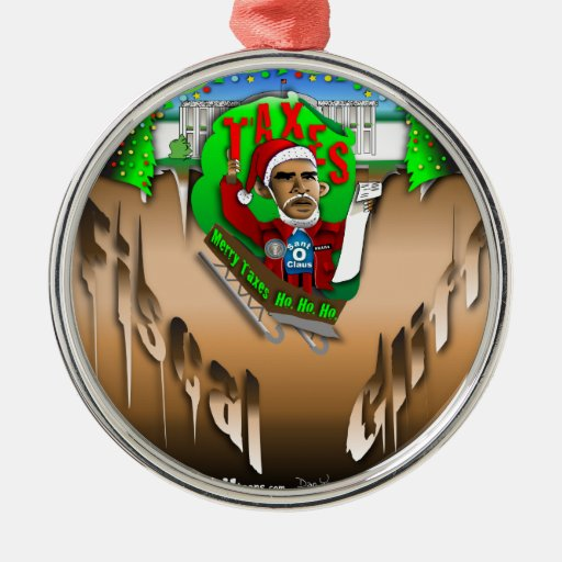 Fiscal Cliff Christmas Tree Ornaments