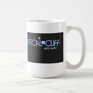 fiscal cliff free falling mug