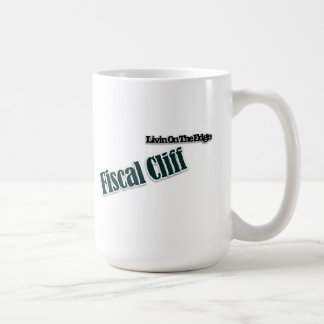 fiscal cliff on the edge mug