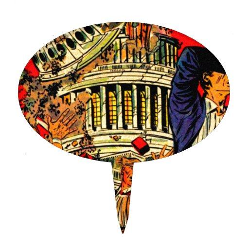 Fiscal Cliff Political Apocalypse Cake Topper