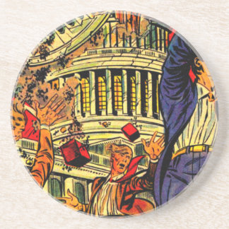 Fiscal Cliff Political Apocalypse Drink Coasters