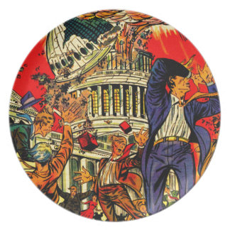 Fiscal Cliff Political Apocalypse Party Plate