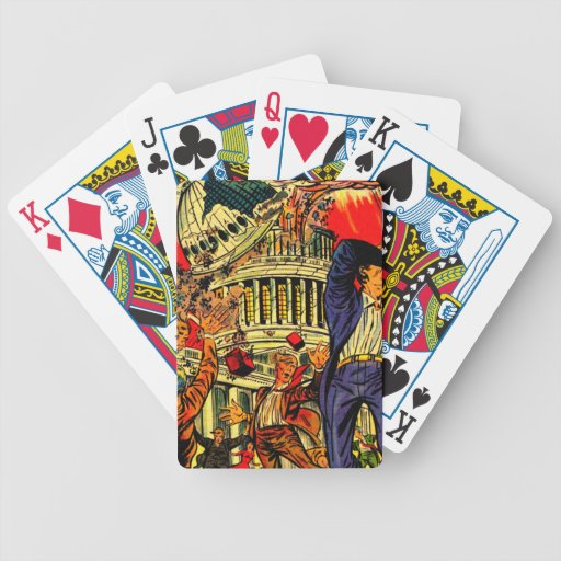 Fiscal Cliff Political Apocalypse Playing Cards