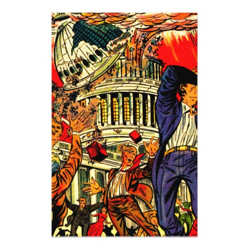 Fiscal Cliff Political Apocalypse Personalized Stationery