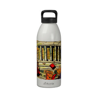 Fiscal Cliff Political Apocalypse Drinking Bottles