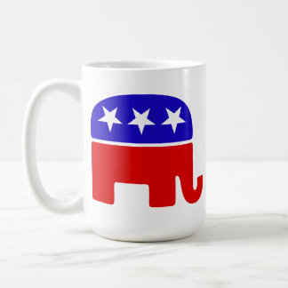 Fiscally Conservative, Socially Awesome - Elephant Coffee Mug