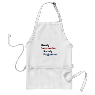 Fiscally Conservative Socially Progresive Adult Apron