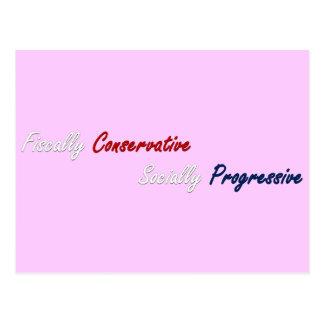 Fiscally Conservative, Socially Progressive 2 Postcard