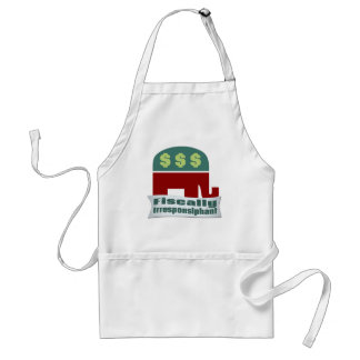 Fiscally Irresponsiphant Adult Apron