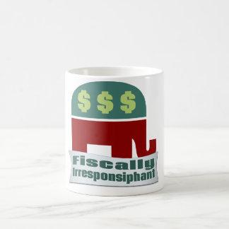 Fiscally Irresponsiphant Basic White Mug