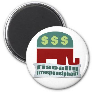 Fiscally Irresponsiphant Fridge Magnet