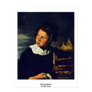Fischermädchen By Hals Frans Post Card