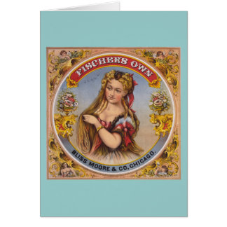 Fischer's own Vintage Chewing Tobacco Label Greeting Card
