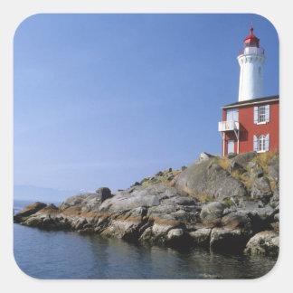 Fisgard Lighthouse in the Fort Rodd Hill Square Sticker