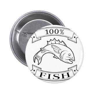 Fish 100 percent label badges