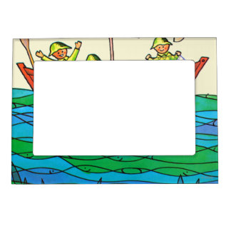 Fish Ahoy! Magnetic Picture Frame