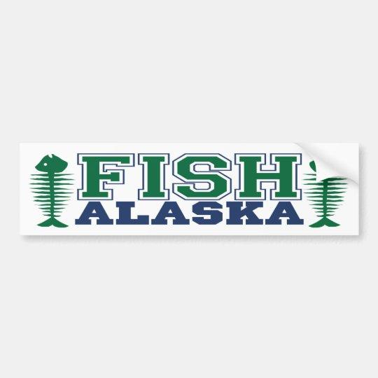 Fish Alaska Bumper Sticker