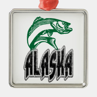 FISH ALASKA CHRISTMAS ORNAMENT