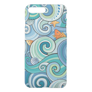 Fish Among The Waves Pattern iPhone 8 Plus/7 Plus Case