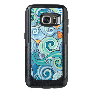 Fish Among The Waves Pattern OtterBox Samsung Galaxy S7 Case