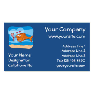 Fish and Bait in Love Business Cards