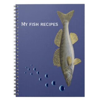 Fish and bubbles for fishermen or chefs notebook