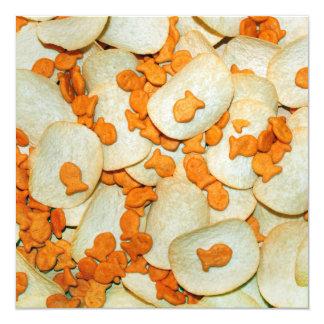 Fish And Chips 13 Cm X 13 Cm Square Invitation Card