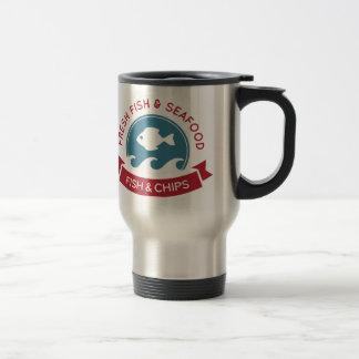 Fish And Chips Seafood Logo Coffee Mug