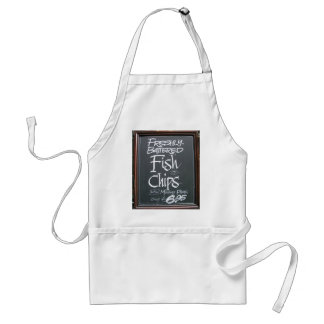 Fish and chips sign standard apron