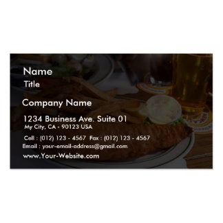 Fish And Chips With A Pint Of Cider Pack Of Standard Business Cards