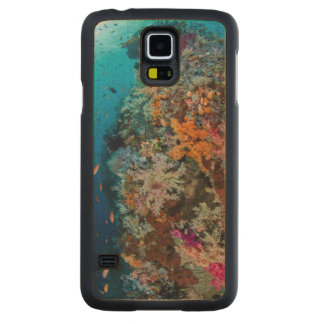 Fish and Coral Reef Scenic Carved Maple Galaxy S5 Case