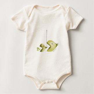 fish and fishing line baby bodysuit