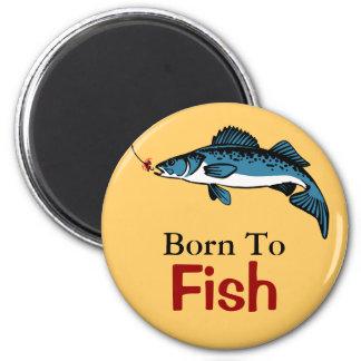 Fish and lure design fridge magnet