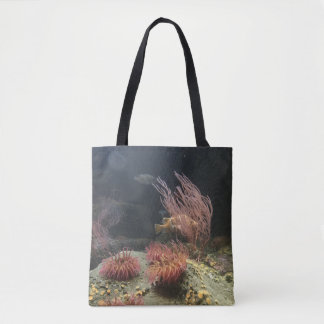 Fish and Sea Anemone Tote Bag