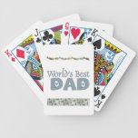 Fish and Ties World's Best Dad Playing Cards