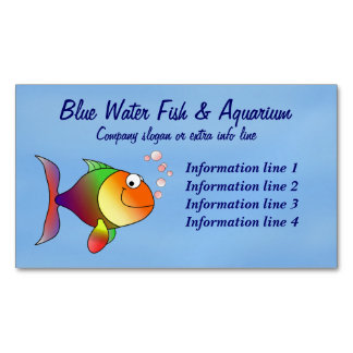 Fish Aquarium Business Magnetic Business Cards (Pack Of 25)