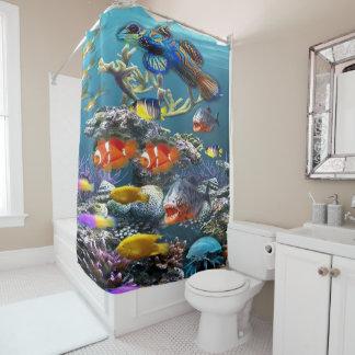 Fish aquarium Shower Curtain