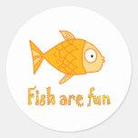 Fish are Fun Classic Round Sticker