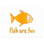 Fish are Fun Postcard
