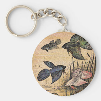 Fish Art Key Ring