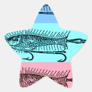 fish art star sticker
