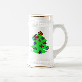 fish at Christmas tree Beer Stein