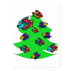 fish at Christmas tree Postcard