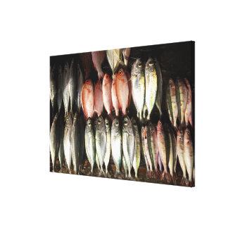 Fish at market, town of Kalabahi, Alor Island, 2 Canvas Print