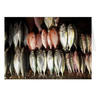 Fish at market, town of Kalabahi, Alor Island, 2 Greeting Card