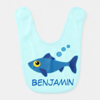 Fish Baby Boy Personalized Infant Bib